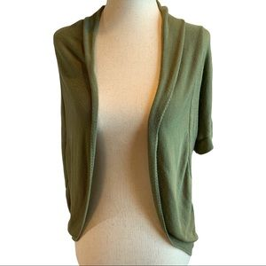 ABSOLUTELY Sz S Army Green Shrug Cardigan Olive